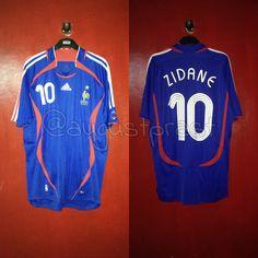 France 2006-2008 Home #Zidane France Jersey, Football, Sports, Tops, Fashion, Soccer, Hs Sports, Moda, Futbol