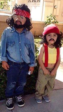 Cheech and Chong Halloween costumes. Too friggin cute!