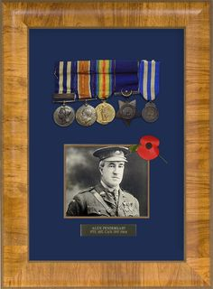 A great idea for Father's Day.  Custom framed military medals.