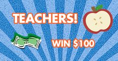 Teachers - enter our Monthly Drawing to win $100 in Partypalooza merchandise. The drawing will be held at the end of each month. Share with your teacher friends! http://www.partypalooza.com/Teacher-Monthly-Drawing