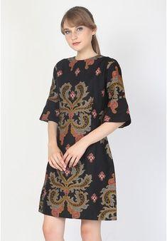 KIRANIA DRESS BATIK from Aksa Batik in black_1