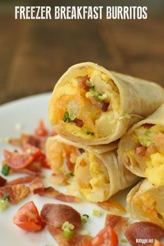 Freezer Breakfast Burritos made with potatoes, bacon eggs and cheese make the best grab and go breakfast for busy mornings. : Freezer Breakfast Burritos made with potatoes, bacon eggs and cheese make the best grab and go breakfast for busy mornings. Frozen Breakfast, Bacon Breakfast, Make Ahead Breakfast, Breakfast Recipes, Breakfast Ideas, Breakfast Sandwiches, Breakfast Healthy, Breakfast Cookies, Breakfast Casserole