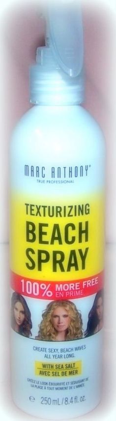 Marc Anthony Texturizing Beach Spray with Sea Salt ~ 8.4oz Mist (Quantity 1) >>> This is an Amazon Affiliate link. Be sure to check out this awesome product.