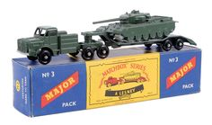The Ron Calcott Matchbox Collection | Major Packs | Vectis Toy Auctions Matchbox Major Pack No.M3 Mighty Antar Articulated Tank Transporter