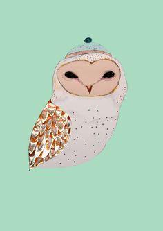 Barn Owl  Art Print - Ashely Percvial