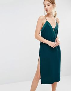 Buy Finders Keepers Slip Dress With Lace Up at ASOS. With free delivery and return options (Ts&Cs apply), online shopping has never been so easy. Get the latest trends with ASOS now. Lace Up Bodycon Dress, Lace Dress, Asos Dress, Green Dress, Beautiful Dresses, Fashion Outfits, Finders Keepers, Women, Style