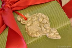 Salt dough, ornaments, gift tags, glitter, @Cha Cha @The Heartfelt Home