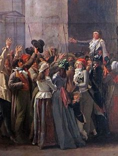 17.   BOILLY (1794)  The Triumph of Marat.  Lille.