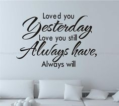 loved you Wall Quotes decal Removable stickers decor Vinyl DIY home art-small au