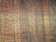 Minangkabau Songket. Silk with gold wrapped cotton threads. West Sumatra, Indonesia.