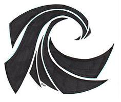 Tribal wave tattoo