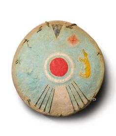 Comanche Painted Hide Shield - 19th century.