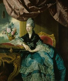 "Johan Joseph Zoffany, ""Queen Charlotte"", 1771."