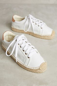 Soludos Leather Espadrille Sneakers #anthropologie
