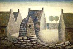 Jan Zrzavy: Camaret (1940). - Czech Roman Catholic, Landscape Paintings, Landscapes, Places, Illustration, Artist, Painters, Czech Republic, Kunst