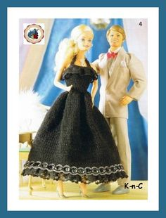 Free Barbie doll clothes patterns throughout this site Barbie Knitting Patterns, Doll Clothes Patterns, Clothing Patterns, Sewing Barbie Clothes, Free Barbie, Stuffed Toys Patterns, Barbie Dolls, Knit Crochet, Gowns