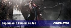 """Vejam um cartaz do filme """"Superman: O Homem de Aço"""""""