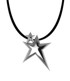 Κρεμαστό Silver Double Star Unisex Handmade Jewellery, Handmade Necklaces, Lucky Charm, Pendants, Charmed, Unisex, Stars, Silver, Collection