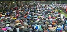 #18F Fecha histórica del Paraguazo. El mar de paraguas da idea de unidad, más juntos que nunca.