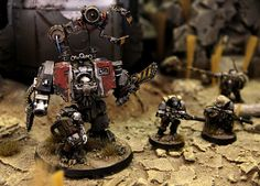 Carcharodons Space Marine Chapter by Teemu Valve {bad ass servo arm idea for dread. sniper scout conversion aint bad either}