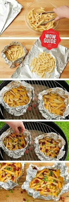 Fries on the grill...al'mode