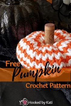 free pumpkin crochet pattern | rick rack pumpkin | Hooked by Kati pin Crochet Pumpkin, Crochet Fall, Crochet World, Simply Crochet, Quick Crochet, Free Crochet, Halloween Crochet Patterns, Craft Patterns, Pattern Ideas