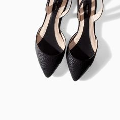 SLING BACK LEATHER SANDALS from Zara