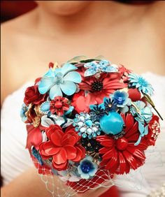 so pretty! brooch bouquet