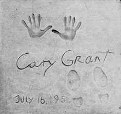 Cary Grant's hand and foot prints in the forecourt of Grauman's Chinese Theater - Hollywood
