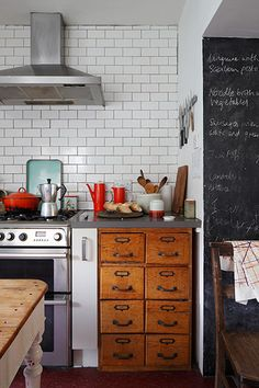 """Credit: James Balston """"Most of our socialising centres around cooking for friends,"""" Henry says, and the flow between the kitchen and dining ..."""
