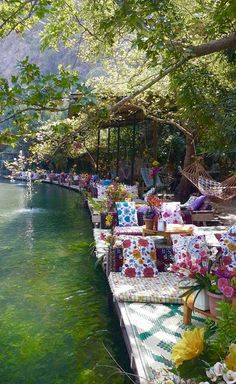 Cafe is by the cold river in #Saklikent. Do you feel the cool?  Adventure | #MichaelLouis - www.MichaelLouis