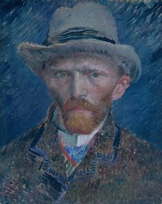 Van Gogh self Portrait.Impressionism by Vincent Van Gogh. Van Gogh paintings are studies in color. Be inspired by his art to help you understand how to put a paint color scheme together. Art Van, Van Gogh Art, Van Gogh Portraits, Van Gogh Self Portrait, Portrait Art, Portrait Paintings, Rembrandt Portrait, Vincent Van Gogh, Van Gogh Pinturas