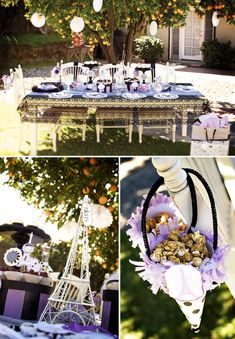 {Paris Theme} Parisian Themed Table Set Up