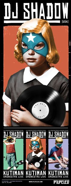 Dj Shadow poster artwork. #dj #musicart #gigposters http://www.pinterest.com/TheHitman14/music-poster-art-%2B/