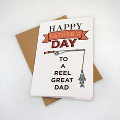 Gone Fishing Father's Day Card - Punny Fishing Reel - Dad Loves To Fish Free Fathers Day Cards, Funny Fathers Day Card, Fathers Day Quotes, Fathers Day Crafts, Fathers Day Cards Handmade, Son Quotes, Baby Quotes, Family Quotes, Girl Quotes