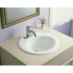 KOHLER Radiant Self Rimming Bathroom Sink In White K 2917 4 0   The Home  Depot