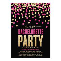SHIMMER & SHINE | BACHELORETTE PARTY INVITATION #Bacheloretteparty #Wedding