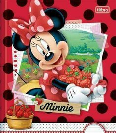 Minnie with fresh strawberries and carrying them by her skirt. Mickey Mouse And Friends, Mickey Minnie Mouse, Disney Mickey, Princesas Disney Dark, Minnie Mouse Pictures, Walt Disney Characters, Walt Disney World Vacations, Disney Fairies, Disney Scrapbook