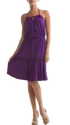 Victoria Dress, Purple Magic by Eco Skin
