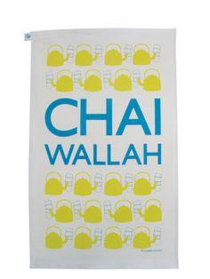 Chai Wallah tea towel by Piccadelhi. http://piccadelhi.co.uk/shop