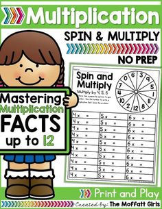 Mastering multiplication facts is such an important component to math fluency. This packet is hands-on, FUN, engaging and provides students with a meaningful way to help master basic multiplication facts from while having FUN! Math Homework Help, Math Help, Learn Math, Fun Math Games, Math Activities, Math Worksheets, Multiplication Facts, Homeschool Math, Homeschooling