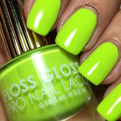 Con Limon by Floss Gloss || Nailpolishpursuit.com