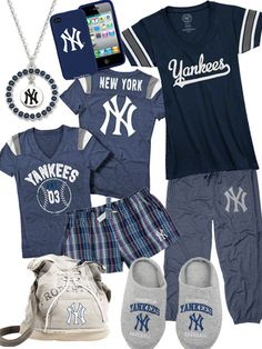 New York Yankees Fashion...one of each please! Anyone need a gift idea?? Just check out Yankees.com...hahahaha