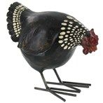 "7 1/4"" Rooster with Metal Feet 