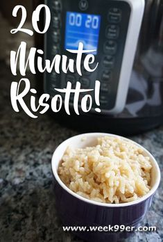 Make Risotto in no time in your instant pot or multi-cooker. So quick and easy!