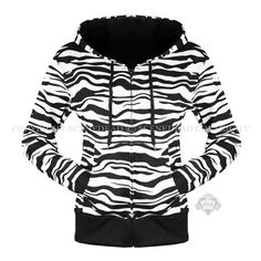 Scene Dead : Scene Queen Clothing Collection : Scene Dress - zebra print hoody top (32 CAD) found on Polyvore