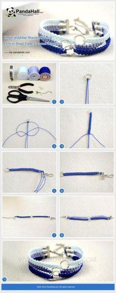 DIY Ombre Friendship Bracelet by marie