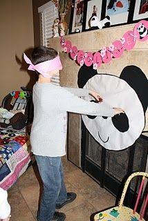 Pin the nose on the panda party game Panda Party, Panda Birthday Party, Bear Party, Bear Birthday, Birthday Party Games, 6th Birthday Parties, Birthday Ideas, Panda Baby Showers, Panda Decorations