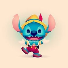 One more for Stitch Day! Disney Love, Walt Disney, Lilo And Stitch, Disney Stitch, Disney Artists, Disney Images, Pinocchio, Doodle Art, Funny Photos