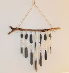 Driftwood Sea Glass and Beach Stone  Mobile  Wind by TheScatterBox, $42.50  Every time I look at this piece, I think of Cape Cod.
